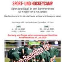 Sommercamps 2020 im HCE